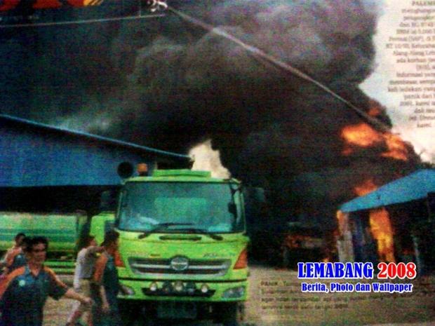 Bengkel PT SAP Terbakar